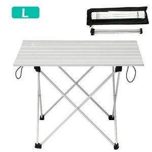 TRIWONDER Ultralight Aluminium Pliant Table de Camping Pliable Portable Roll-Up pour Extérieur, Camping, Pique-Nique, Barbecue, Plage, Pêche de la marque TRIWONDER image 0 produit