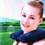 TRIXES Coussin de nuque repose tête /oreiller gonflable pour voyage bleu de la marque TRIXES image 1 produit