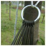 TRIXES Hamac nylon mini de voyage vert armée pour camping ou jardin de la marque TRIXES image 3 produit