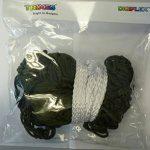TRIXES Hamac nylon mini de voyage vert armée pour camping ou jardin de la marque TRIXES image 6 produit
