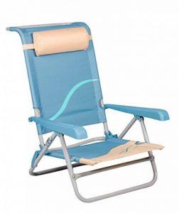 Unbekannt Chaise de plage avec dossier et repose-tête réglable Pêcheur Chaise de camping chaise XXL de la marque Meerweh image 0 produit