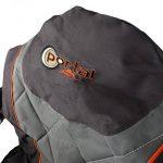 Unbekannt Portail Ole rembourrée Repose-pieds, dossier réglable, max 120kg Chaise de camping Gris Orange, XXL de la marque Unbekannt image 1 produit
