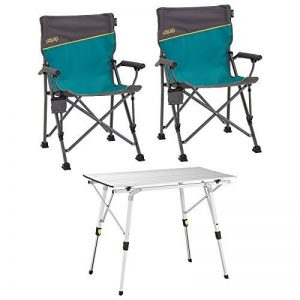 Uquip Bloddy Meuble pour Camping – Ensemble Table en Aluminium Pliable (89x53 cm) avec 2 Chaises de Camp réglables de la marque Uquip image 0 produit