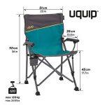 Uquip Bloddy Meuble pour Camping – Ensemble Table en Aluminium Pliable (89x53 cm) avec 2 Chaises de Camp réglables de la marque Uquip image 2 produit