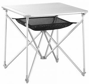 Uquip Mercy Table Pliante en Alimunium – Pour 4 Personnes avec des Pieds Flexible et un Filet pour Espace Rangement de la marque Uquip image 0 produit