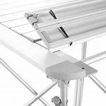 Uquip Mercy Table Pliante en Alimunium – Pour 4 Personnes avec des Pieds Flexible et un Filet pour Espace Rangement de la marque Uquip image 2 produit