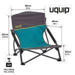 Uquip Sandy – Chaise de Plage Pliante Confortable – Capacité de Charge jusqu'á 120 Kg (17x17x65cm) de la marque Uquip image 1 produit