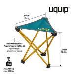 Uquip Trinity Tabouret Pliant à Trois Pieds de Camping XL - Pliable, Compacte et Legé pour le Camping / Camp du Randonné de la marque Uquip image 1 produit