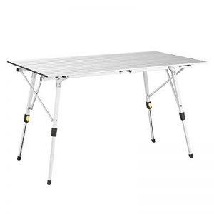 Uquip Variety L Table en Aluminium Pliable pour 4 Personnes (120x70cm) – Réglable en Continu en Hauteur de la marque Uquip image 0 produit