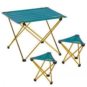 Uquip Whisky Meuble pour Camping – Ensemble Table avec 2 Tabourets – Pliable Compacte et Legé pour le Camping/Camp du Randonné de la marque Uquip image 0 produit