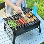 Uten Barbecue Portable Petit Barbecue à Charbon de Table Domestique Pliable avec 2 Barbecue Grille Inox Barbecue extérieur/Camping/piquenique de la marque Uten image 1 produit