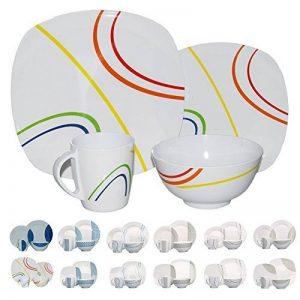 Vaisselle de camping/pique-nique en mélamine 16pièces pour 4personnes, design/couleur au choix de la marque Hekers image 0 produit
