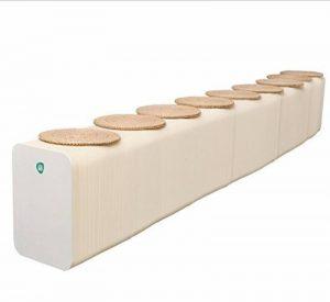 VERCART Siège Chaise Banc Tabouret D'orgue en Papier Craft Pliante Empilable Design Convertible Créatif et Ecologique Bonne Résistance à la Compression et à l'eau Blanc Grand 6 Places de la marque VERCART image 0 produit