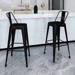 vidaXL 2 Tabourets de Bar Hauts Noir Chaise de bar haute Tabourets bar Mobilier de bar de la marque vidaXL image 1 produit