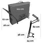 Vivezen ® Chariot à roulettes pliable et transportable pour table de massage - Norme CE de la marque Vivezen image 2 produit