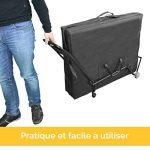 Vivezen ® Chariot à roulettes pliable et transportable pour table de massage - Norme CE de la marque Vivezen image 3 produit