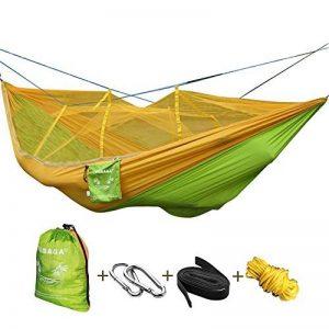 Vobaga Hamac deux Personnes,Portable Hamac Ultra-léger de Voyage Camping avec Moustiquaire Charge 200 kg (260 X 140 cm) de la marque Vobaga image 0 produit