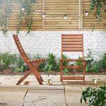 VonHaus Lot de 2 Chaises de Jardin pliantes en bois de la marque VonHaus image 2 produit