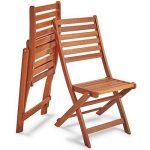 VonHaus Lot de 2 Chaises de Jardin pliantes en bois de la marque VonHaus image 5 produit