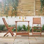 VonHaus Set Table et 2 chaises de Jardin Patio Meuble en Bois – 70 x 70 cm – inclus 2 ans Extension de Garantie GRATUITE de la marque VonHaus image 2 produit