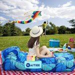 Waitiee air sofa gonflable portable, lamzac hamac gonflable avec Oreiller Intégré, chaise de plage imperméable avec un sac, destiné à la plage, au camping, aux vacancesl, pour toutes les activités en plein air ou à l'intérieur (blue) de la marque Waitiee image 6 produit
