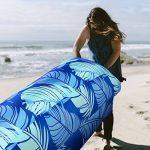 Waitiee air sofa gonflable portable, lamzac hamac gonflable avec Oreiller Intégré, chaise de plage imperméable avec un sac, destiné à la plage, au camping, aux vacancesl, pour toutes les activités en plein air ou à l'intérieur (blue) de la marque Waitiee image 2 produit