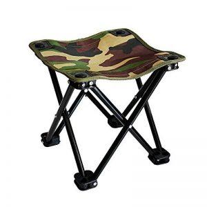 WETOO Tabouret Pliant pour Camping Peche Randonnee Pique-nique Mini Chaise Pliable Portatif Facile a Transporter et Mobile en Acier de la marque WETOO image 0 produit