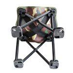 WETOO Tabouret Pliant pour Camping Peche Randonnee Pique-nique Mini Chaise Pliable Portatif Facile a Transporter et Mobile en Acier de la marque WETOO image 1 produit
