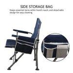 WolfWise Chaise de Plage pliante, Assise Large, Chaise de Camping, Siège Randonnée, Super Solide, Noir de la marque WolfWise image 1 produit