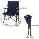 WolfWise Chaise de Plage pliante, Assise Large, Chaise de Camping, Siège Randonnée, Super Solide, Noir de la marque WolfWise image 2 produit