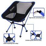 WolfWise Chaise de Plage Pliante Légère et Solide avec Sac de Transport & Mousquetons pour Camping Randonnée Pédestre - Bleu de la marque WolfWise image 1 produit