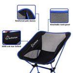 WolfWise Chaise de Plage Pliante Légère et Solide avec Sac de Transport & Mousquetons pour Camping Randonnée Pédestre - Bleu de la marque WolfWise image 2 produit