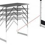 WOLTU CPT8121sz Table de camping pliante table de jardin table de travail table de balcon réglable en hauteur en aluminium acier MDF,Noir de la marque WOLTU image 4 produit