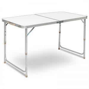 WOLTU CPT8122sg Table de camping pliante table de jardin table de travail table de balcon réglable en hauteur en aluminium MDF,Argent de la marque WOLTU image 0 produit