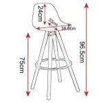 WOLTU® Lot de 2 Tabouret de bar en plastique siège tabouret de cuisine avec Repose-pied,Blanc BH45ws-2 de la marque WOLTU image 2 produit