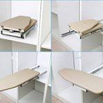 ybaymy 82*31cm pliante rotatif évolutive Planche à repasser avec rembourrage Coque Beige de la marque ybaymy image 3 produit