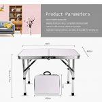 Yinmake Mini table de camping pliante en aluminium pour ordinateur portable Lit Desk Hauteur réglable 60x 40.5X 24/41.5cm de la marque Yinmake image 2 produit