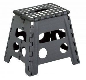 Zeller 99161 Tabouret pliant en plastique noir/anthracite 37 x 30 x 32 cm de la marque Zeller image 0 produit